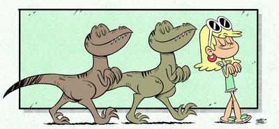 Leni raptor walking