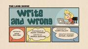 Write and Wrong