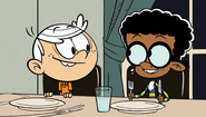 S3E10B Lincoln and Clyde at dinner