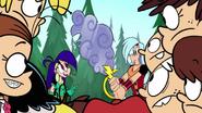 Loud siblings look at mighty magisword scene