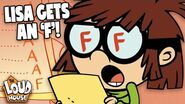 Lisa Loud Gets An 'F' On Her Report Card! The Loud House