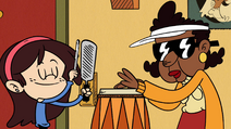 S4E04A Sid plays a bunion scraper; Maybelle plays a conga