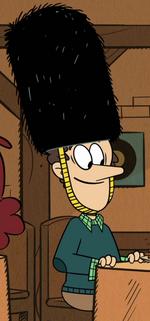 Lynn Sr.'s royal guard hat