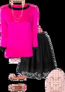 Preppy schoolgirl outfit