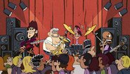S2E02B Pop Pop playing the sax on stage