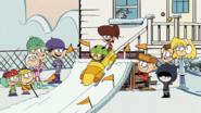 S1E24B Lisa and Lynn in bobsled