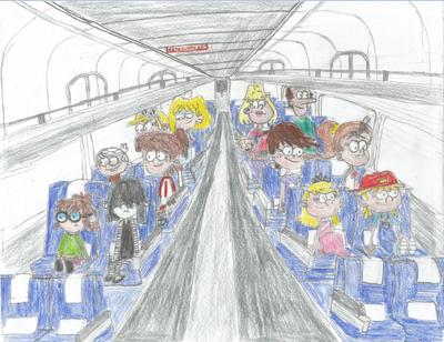 Loud Family riding Amtrak
