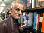 Rob Paulsen with his book