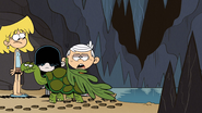 S4E06A A Turtle with a leaf in its butt
