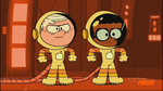 S4E09B Lincoln and Clyde in spacesuits