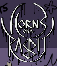 Horns on a rabbit logo