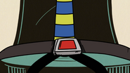 S4E15A Clyde wearing a seatbelt in his stool