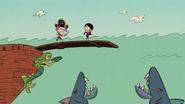 CS1E05A Ralphie cornering Ronnie Anne on the ship's plank