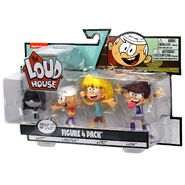 The Loud House Figure 4 Pack - Lincoln, Leni, Lucy, Luna - Action Figure Toys from The Nickelodeon TV Show 5