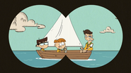 S4E26A Liam, Trent, and Huggins on a boat