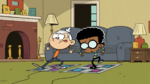 S2E20B Lincoln and Clyde playing a dance game