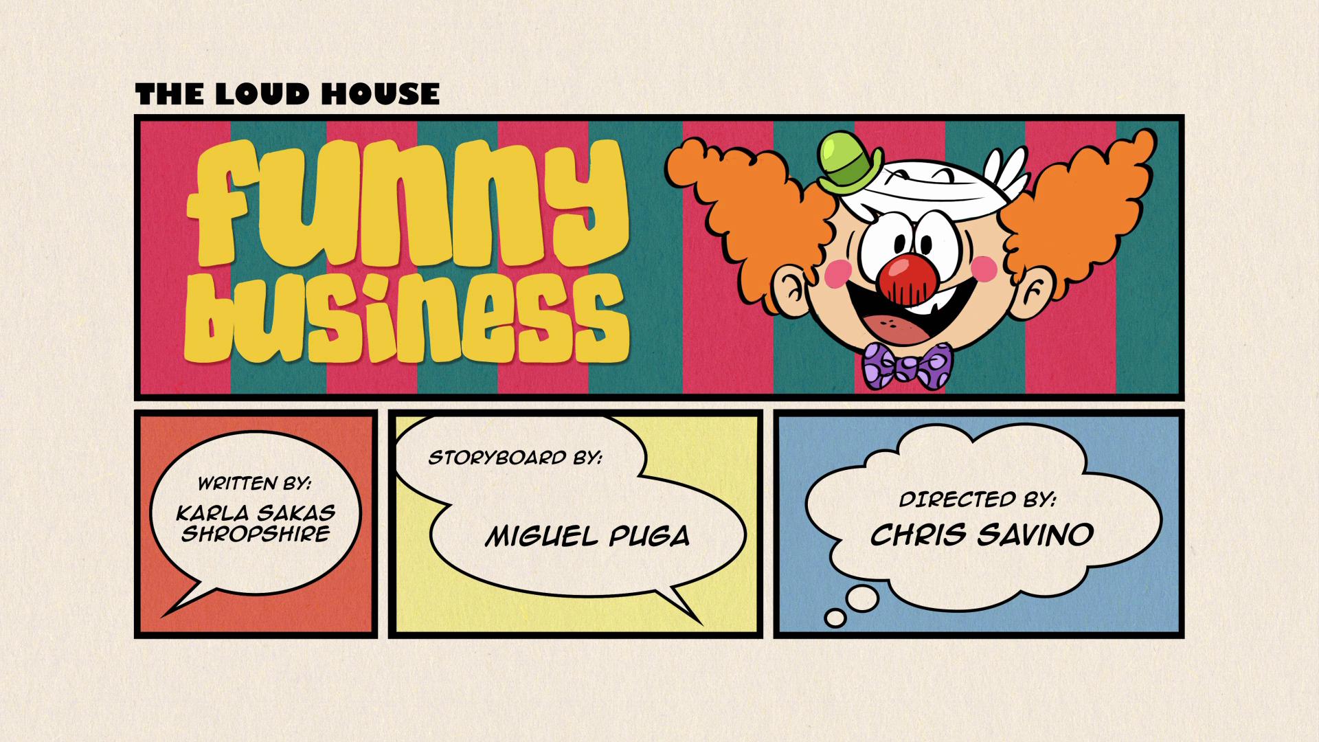 Funny business the loud house encyclopedia fandom powered by wikia funny business colourmoves