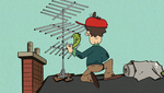 S1E26B Dad tries to fix the TV antenna