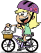 Young Leni Loud on a bicycle