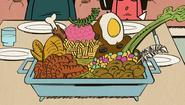 S2E10A Potato-quinoa-turkey-chicken-meatloaf-bologna-frosting-cereal-goulash-barf