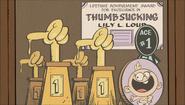 S1E02B Lily's thumb sucking trophies