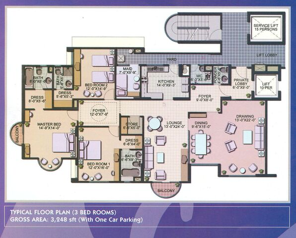 Floor-Plans-For-Apartments-3-Bedroom-And-Luxury