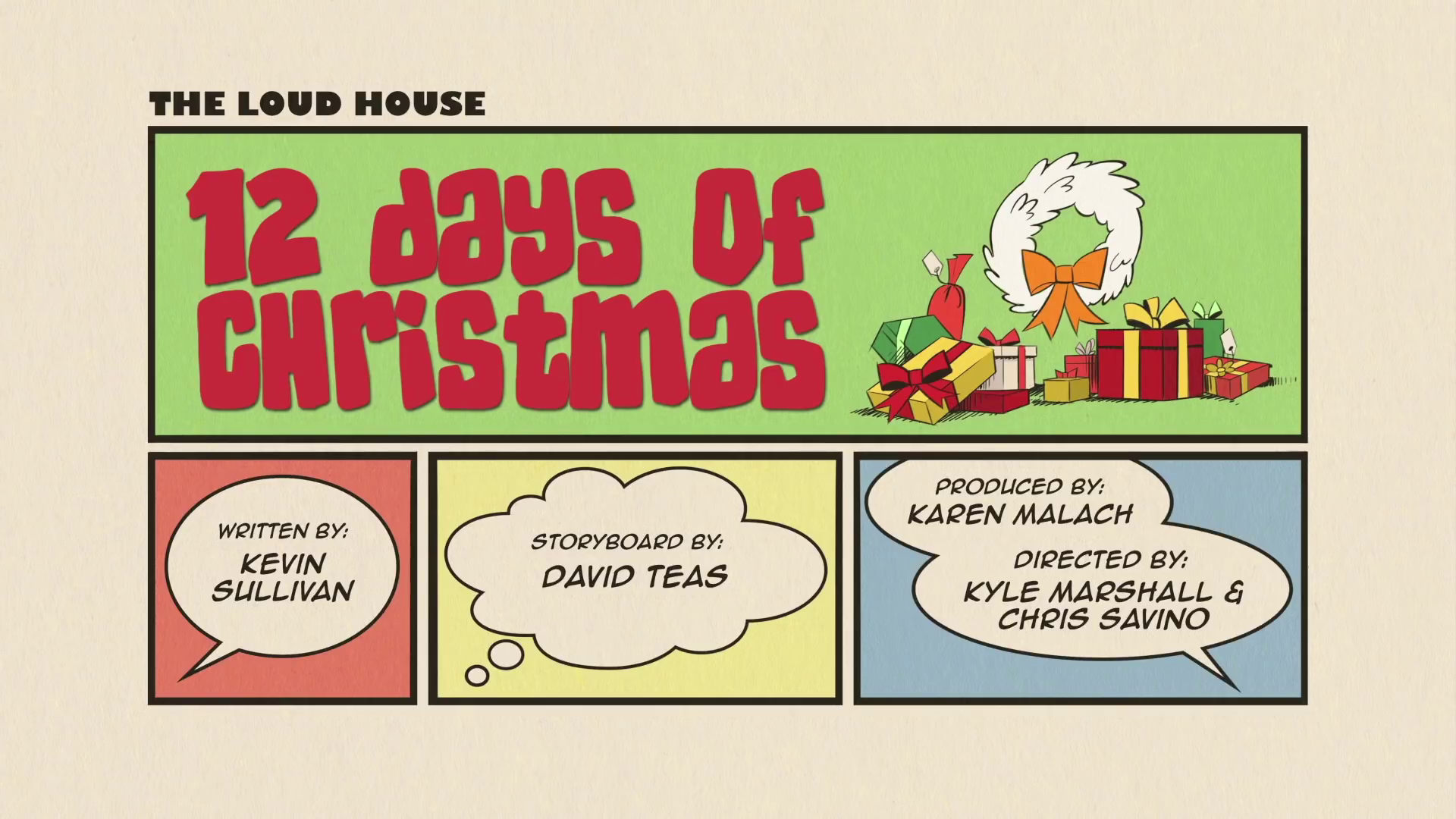 12 Days Of Christmas.12 Days Of Christmas The Loud House Encyclopedia Fandom