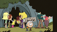S1E21B Loud family about to enter the caverns