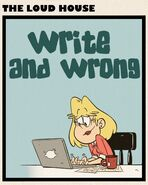 Write and Wrong square title card