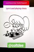 JB Lynn plays chess