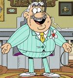 Albert's blue suit