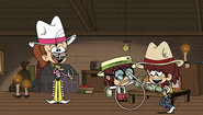 S1E26B Luan, Lisa and Lynn in western wear