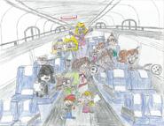 Loud family misbehaving on amtrak train by willm3luvtrains-db1czgf