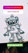AMA Lily in robot suit AGH