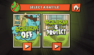 The Loud House Germ Squirmish Menu