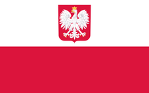 Flag of Poland (with coat of arms)