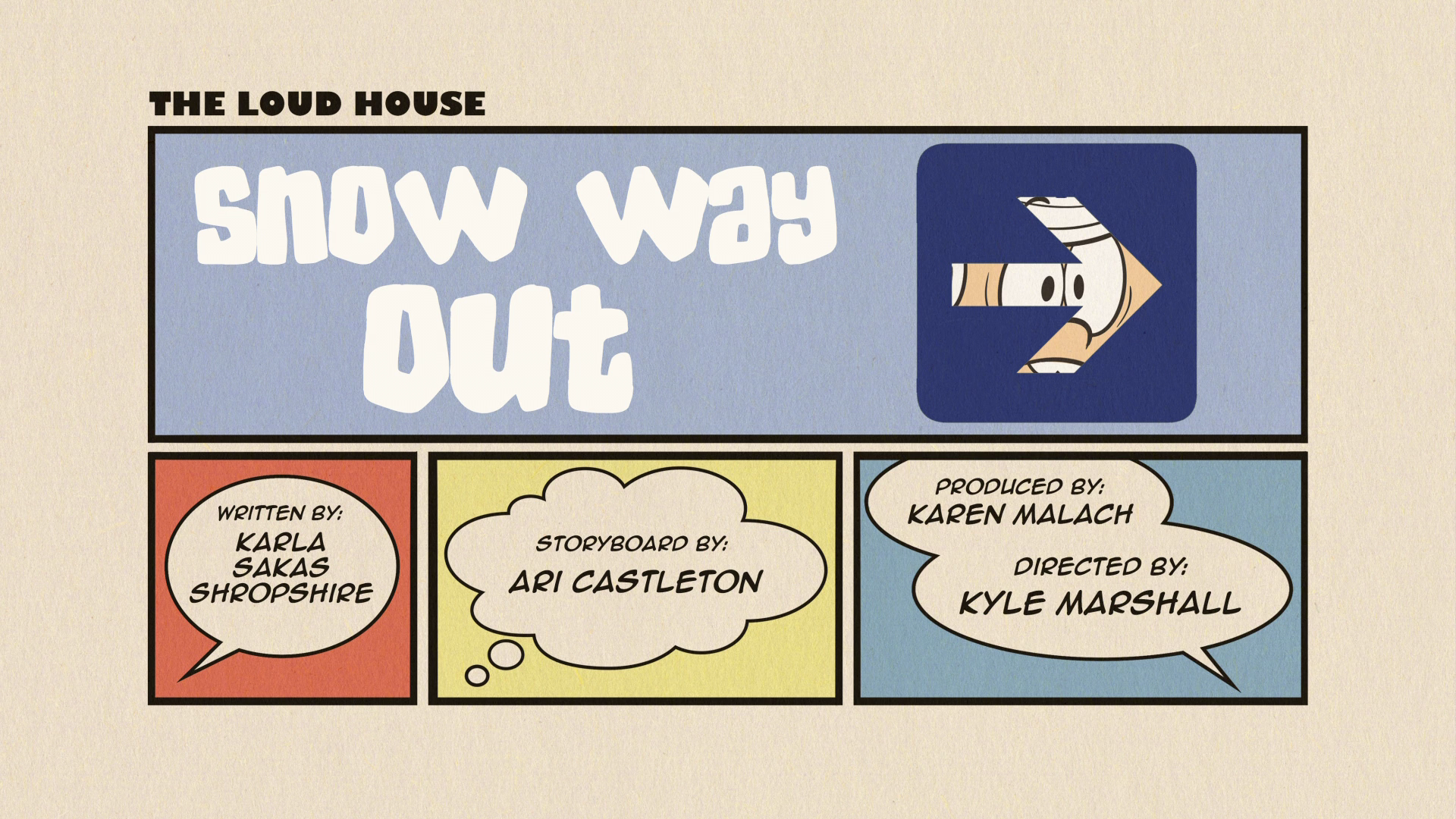snow way out loud house script