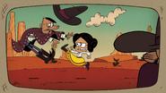 S4E03B Ana kicks a bandit