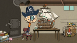 S1E26B Lincoln making a pirate ship