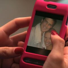 Photo of Eduardo and Mads on Mads' phone.