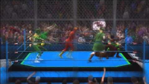 WWE2K14 The Flash vs Link vs Gambit vs The Green Ranger vs Leonardo vs Robin TMN Blue