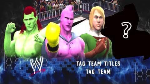 TMN - Buu Bojack vs Link MysterPartner - Tag Team Title Match - WWE 13