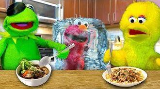 Kermit's Kitchen COOK OFF EDITION! Kermit the Frog VS Big Bird (ft. Frozen Elmo)