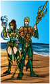 Aquaman and mera king and queen of atlantis by kiarou-d4me625