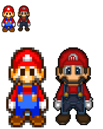mario and luigi superstar saga sprites