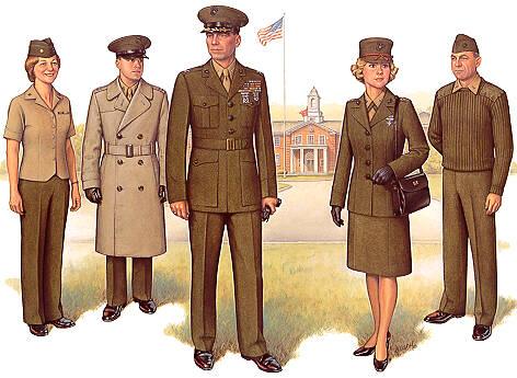 PlateI Officer Service Uniform