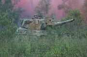 800px-Australian Leopard AS1 tank forest smoke