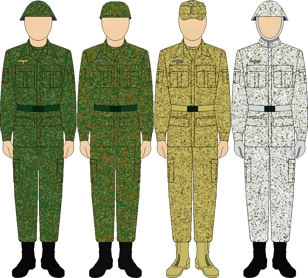 All patterns Wehrmacht battledress by thefalconette