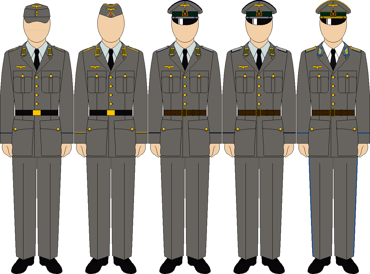 Kriegsmarine coastal service everyday uniforms by thefalconette-d5cyca7