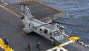 CH-46 Sea Knight on USS Saipan